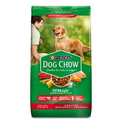 DOG CHOW - ADULTO R. MED. Y...